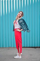 Sukne - Červená sukňa dlhá - 10765344_