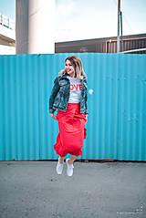 Sukne - Červená sukňa dlhá - 10765351_