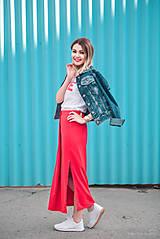 Sukne - Červená sukňa dlhá - 10765352_