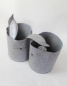 Košíky - Kôš filcový zvieratká - 10763113_
