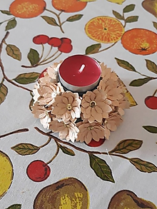 Svietidlá a sviečky - svietnik kvety - 10763672_