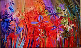 Obrazy - Záhradné kvetinky - 10765250_