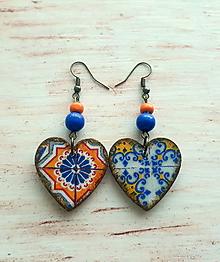 Náušnice - srdiečka ornamenty - 10763531_