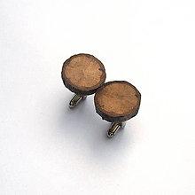 Šperky - Drevené manžetové gombíky - z dubovej halúzky - 10763189_