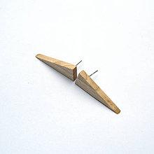 Náušnice - Drevené náušnice napichovacie - gledíčiové trojuholníčky - 10763978_
