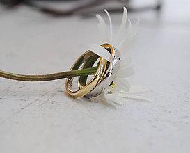 Prstene - Obrúčky klasik dvojfarebné - 10767531_