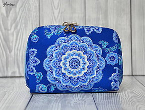 Peňaženky - Peněženka - Blue medallions - 10766688_