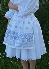Detské oblečenie - Zásterka Bordúra Folk so satén. stuhami - 10765921_