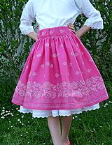 Detské oblečenie - Sukienka Bordúra Folk dievčenská ružová - 10765926_