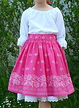 Detské oblečenie - Sukienka Bordúra Folk dievčenská ružová - 10765927_