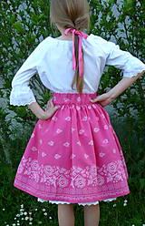 Detské oblečenie - Sukienka Bordúra Folk dievčenská ružová - 10765930_