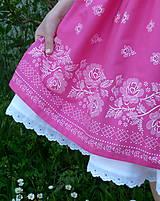 Detské oblečenie - Sukienka Bordúra Folk dievčenská ružová - 10765931_