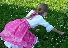 Detské oblečenie - Sukienka Bordúra Folk dievčenská ružová - 10765932_