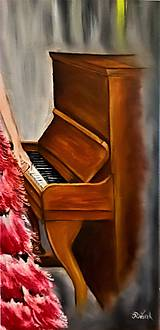 Obrazy - Žena pri klavíri - 10766872_