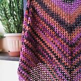 Šatky - Merino šatka farebná - 10767943_
