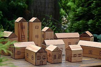 Hračky - Drevené domčeky - detské kocky - 10766073_