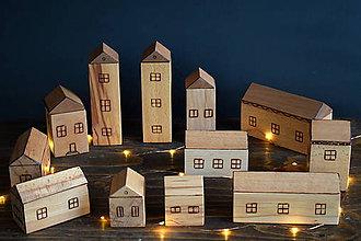 Hračky - Drevené domčeky - detské kocky - 10766076_