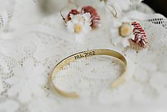 Náramky - Mosadzný náramok s vlastným odkazom - 10766208_