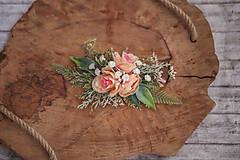 Ozdoby do vlasov - Kvetinová spona - 10768951_