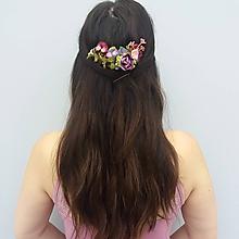 """Ozdoby do vlasov - Kvetinový hrebienok """"Lesná lúka """" - 10769004_"""
