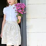 Detské oblečenie - sukňa OBĽÚBENÁ natural s mašľou a MAXIvreckami - 10766434_