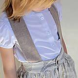 Detské oblečenie - sukňa OBĽÚBENÁ natural s mašľou a MAXIvreckami - 10766445_