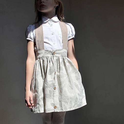 sukňa OBĽÚBENÁ natural s mašľou a MAXIvreckami