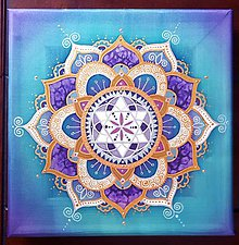 Dekorácie - Mandala Intuície a lásky - 10766249_