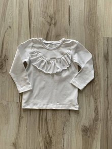 Detské oblečenie - Biele tričko s volánom - 10767251_