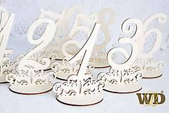 Dekorácie - Čísla na stoly - 10768786_