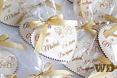 Darčeky pre svadobčanov - Svadobné darčeky s balením - 10768789_
