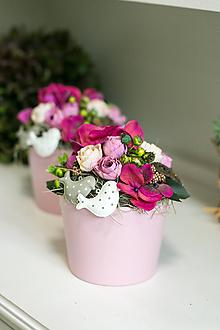Dekorácie - Aranžmán - Ružový sen - 10766329_