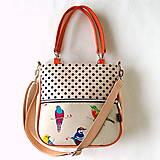 Veľké tašky - Big Sandy - S bodkami a vtákmi - 10766395_