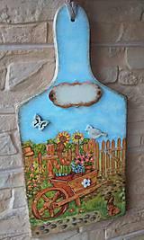 Dekorácie - Dekoračný lopárik - V našej záhrade - 10768521_