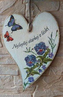Dekorácie - Najlepšej starkej z lásky - 10768464_