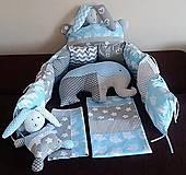 Textil - Ochranný mantinel do detskej postieľky - 10765901_