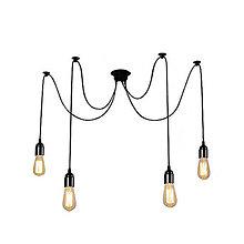 Svietidlá a sviečky - Závesné svietidlo Pavúk, 4 pätice - 10768003_