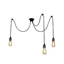 Svietidlá a sviečky - Závesné svietidlo Pavúk, 3 pätice - 10768010_