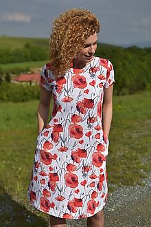 Tehotenské/Na dojčenie - Šaty na dojčenie - akvarelové maky - 10767422_