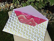 Papiernictvo - Darčekové obálky k maľovanému hodvábu 26 x 16 cm - 10766704_