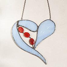 Obrázky - vitráž - srdce modré - 10768726_