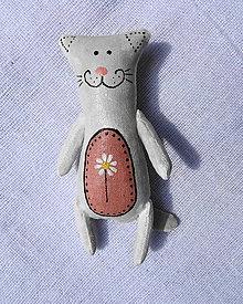 Odznaky/Brošne - čierna mačka biely kocúr-či naopak? - 10767813_