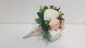 Dekorácie - Svetloružová kytička - 10767836_