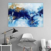 Obrazy - Aqua, 130x90, abstraktný obraz - 10768823_