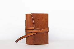 Papiernictvo - Kožený zápisník Dario - 10768206_