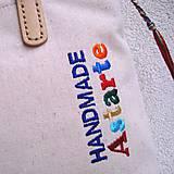 Veľké tašky - Ľanová taška na veľ. A4 / folk 4 - 10768322_