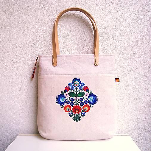 Ľanová taška na veľ. A4 / folk 4