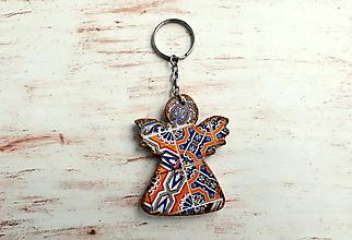 Kľúčenky - kľúčenka anjelik No.2 - 10768671_