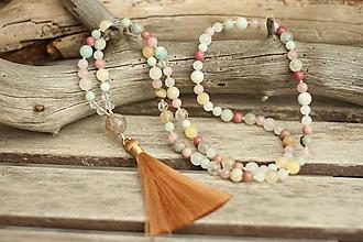 Náhrdelníky - Mala náhrdelník s mixom minerálov - 10767570_