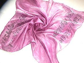 Šatky - Hodvábna šatka s monogramom na mieru - 10767184_